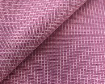 Organic cotton fabric fine linen look pink white stripes by C. Pauli