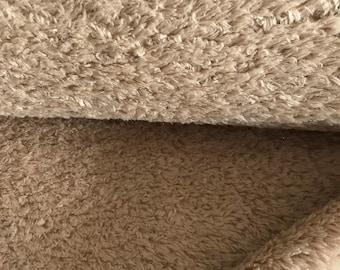 Organic plush, Pauli teddy plush plain in beige, light brown, smoke gray