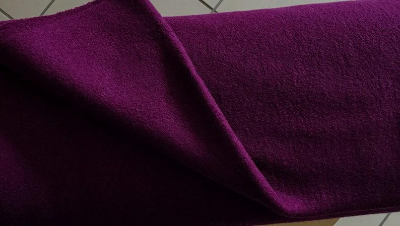 berry purple 59.70 EURMeter Walk fabric Merino wool by Hilco in a dark purple
