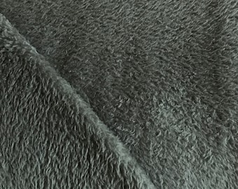 Fleece fabrics Wellness fleece cuddly soft in grey