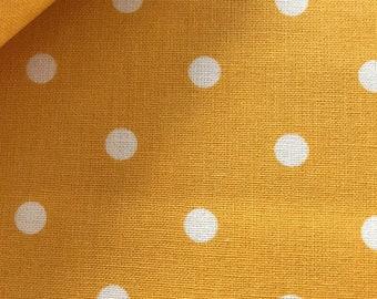 Westfalenstoffe , Printing fabric Capri dots yellow, cotton fabric