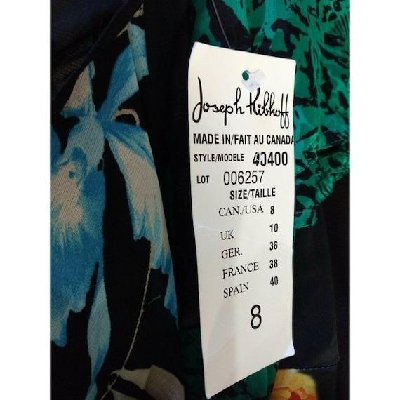Vintage Joseph Ribkoff Slip Dress Black Floral Em… - image 6