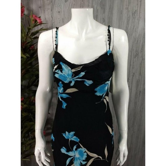 Vintage Joseph Ribkoff Slip Dress Black Floral Em… - image 3