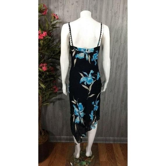 Vintage Joseph Ribkoff Slip Dress Black Floral Em… - image 5