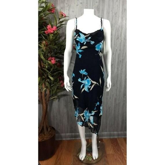 Vintage Joseph Ribkoff Slip Dress Black Floral Em… - image 1