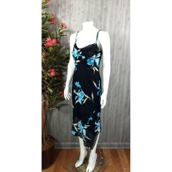 Vintage Joseph Ribkoff Slip Dress Black Floral Em… - image 2