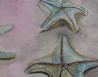 Watercolor Painting, Starfish Painting, Watercolor Starfish Painting, Original Painting, Original Watercolor Starfish Painting