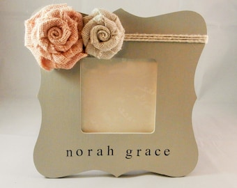 Personalized baby girl gift ideas, new parent gift, newborn girl personalized frame, baby frame