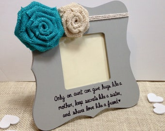 Birthday gift for aunt gift, only an aunt frames with quotes, auntie tia present