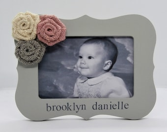 Personalized photo frame baby