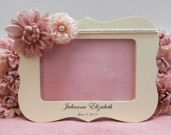 Personalized picture frame baby girl gift personalized birth photo frame