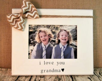 Mothers day gifts for Grandma and Grandpa, I love you picture frame 5 x 7, Mothers day Gift for Grandmother