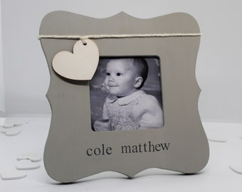 Personalized picture frame baby boy