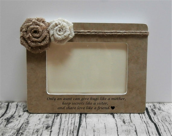 I Love My Aunt Picture Frame Gifts For Aunts Birthday Gift Etsy