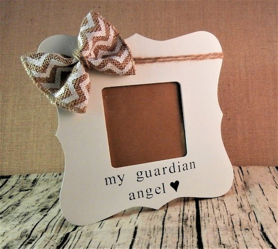 Guardian Angel Picture Frame Loss Of Loved One Gift Etsy