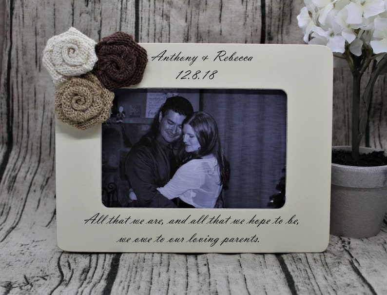 Personalized picture frame wedding gift for couple photo frame  wedding frame personalized