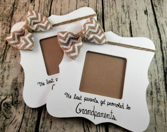 Pregnancy announcement Grandparents picture frame, The best moms get promoted to grandma frame, Pregnancy reveal to grandparent frame