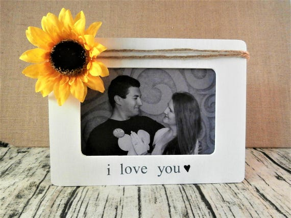 I Love You Frame Personalized Picture Frame Love Sunflower Etsy