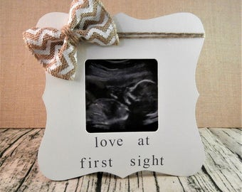 Ultrasound Pregnancy announcement ideas, Ultrasound picture frame love at first sight