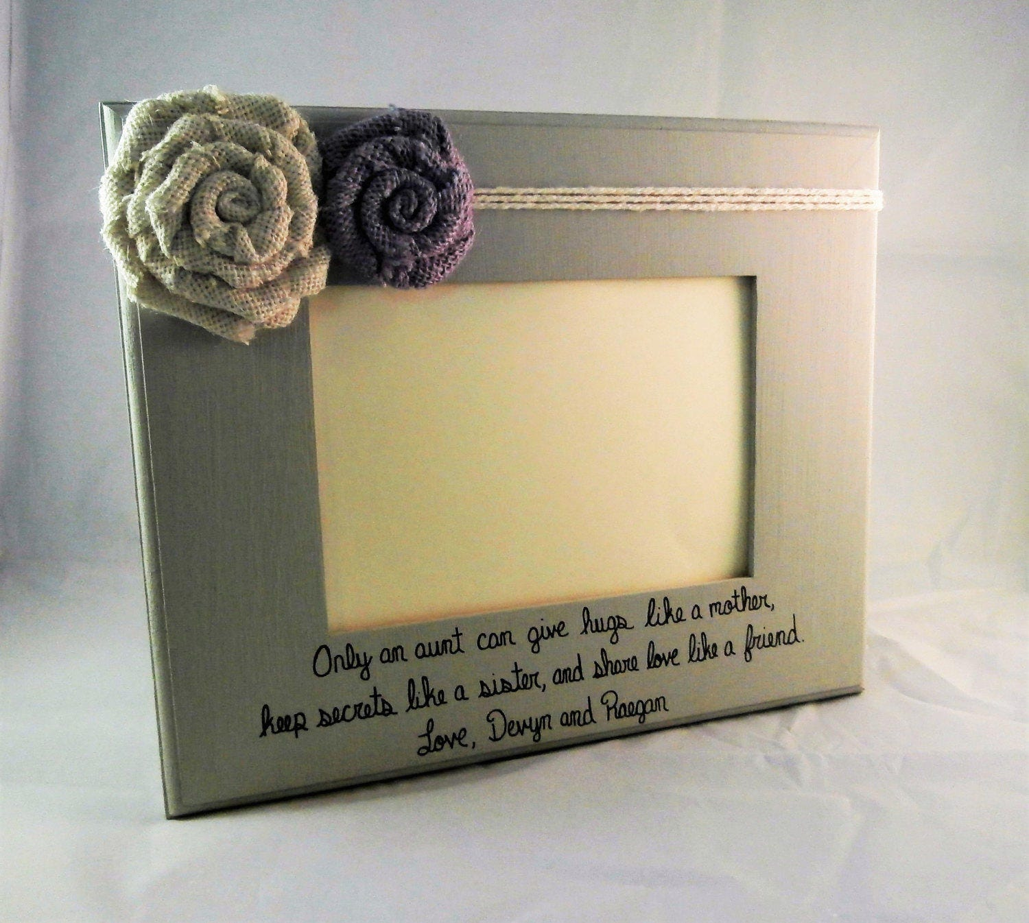 Aunt gift from niece Aunt picture frames with quotes 5 x 7 | Etsy