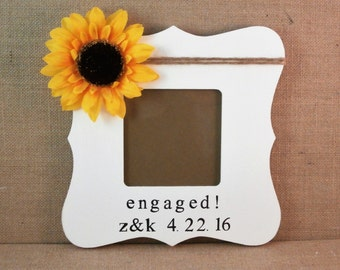 Newly engaged gift, custom picure frame couples, Engagement gifts for best friend fiance sister