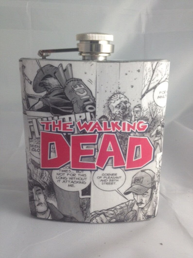 The Walking Dead Comic Hip Flask Custom image 1
