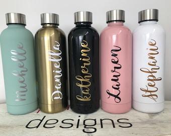 6fbce7f38f Personalised Water Bottle / Personalised Water Bottle/Teacher Present/ Personalised Drink Bottle/School Supplies