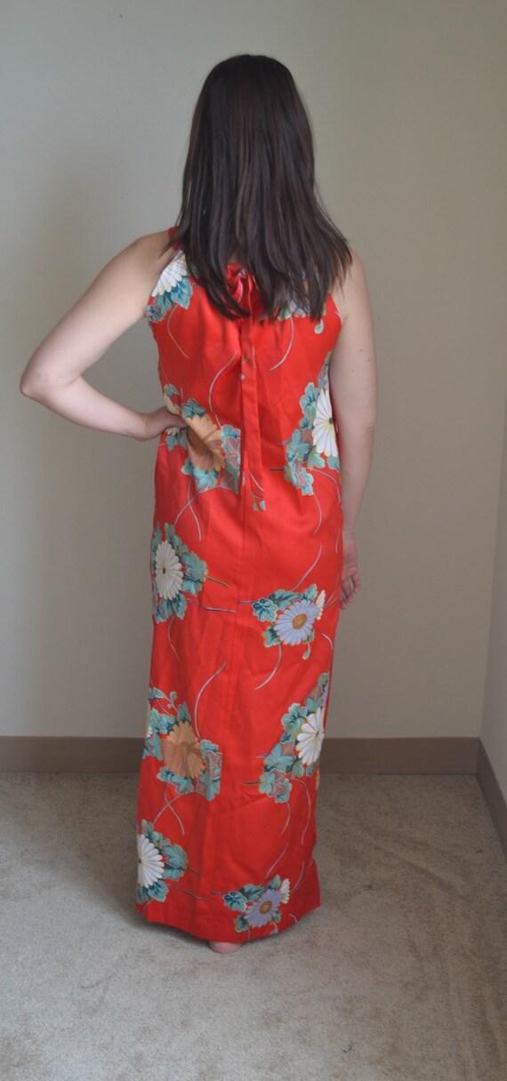 Vintage Floral Maxi Slip Dress (Size S) - image 4
