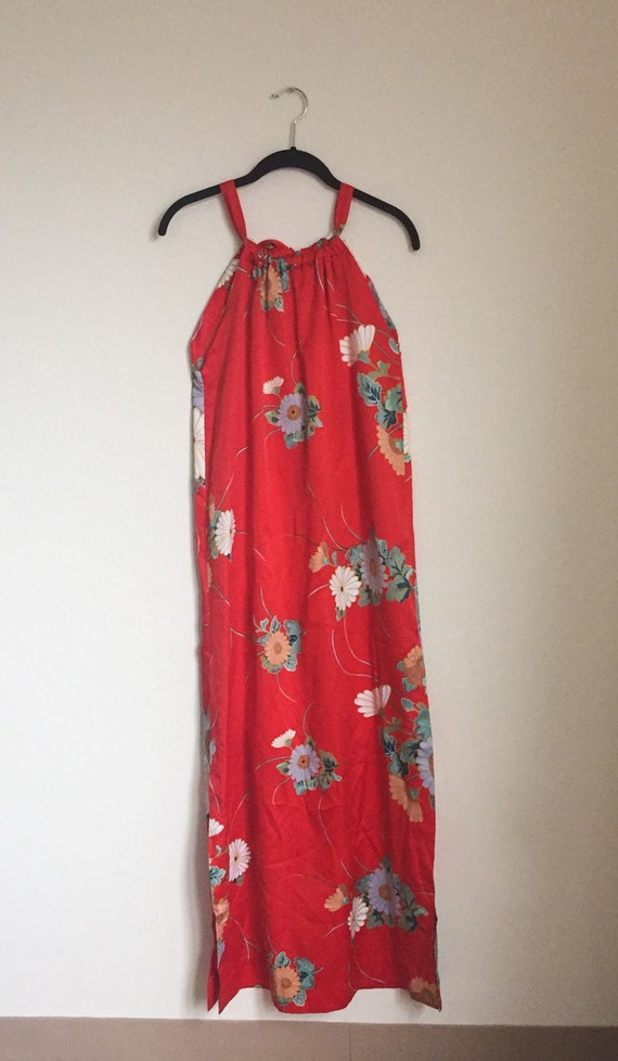 Vintage Floral Maxi Slip Dress (Size S) - image 5