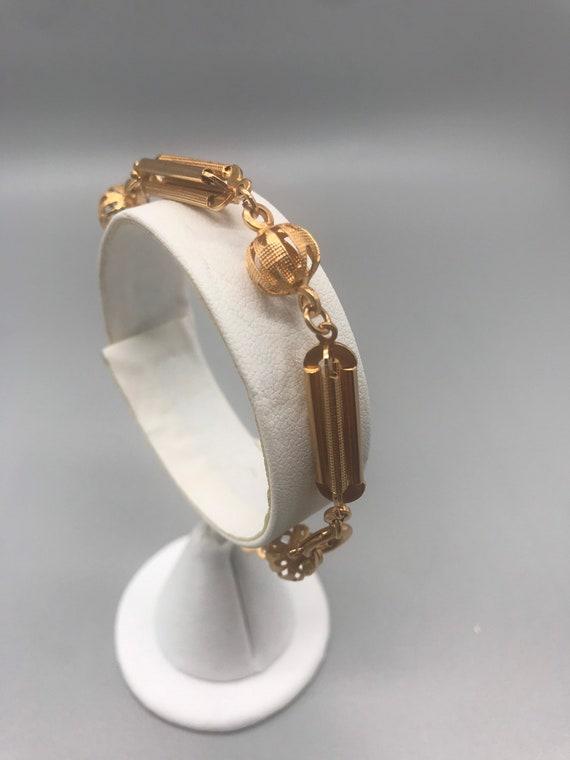 Bracelet,18k Rose Gold. Handmade. Circa 1950's