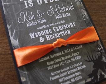 Camo wedding invitation   Etsy