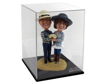 Acrylic Display Case With Black Base - Clear Box Showcase