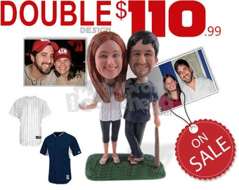 Couple Custom Bobbleheads and Personalized Bobbehead, Bobble Head Gifts, Groomsman Bobblehead and Bridesmaid Bobblehead, Custom Cake Toppers