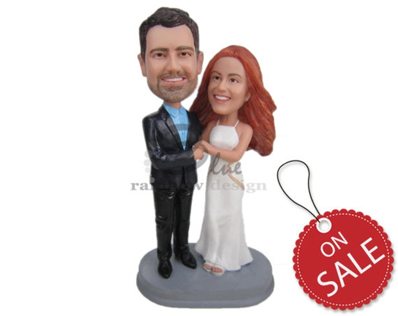 1e7a2676ac91 Custom Bobblehead Classy Wedding Couple Elegant Bride and