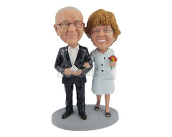 Custom Bobblehead Mother and Father of the Bride, Cute Loving Couple Custom Bobblehead, Wedding Custom Bobblehead, Personalized Bobblehead