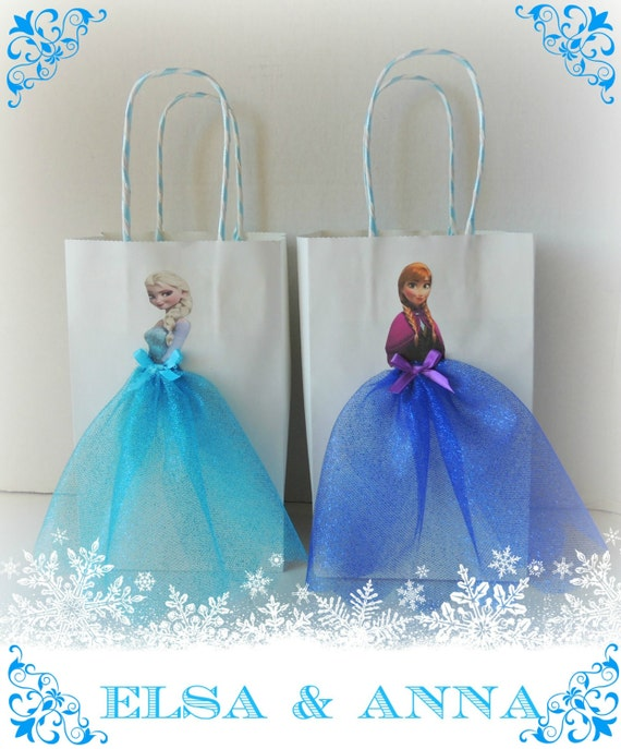 10 Pieces Frozen Elsa Anna Paper Tutu Birthday Favor Goody Etsy