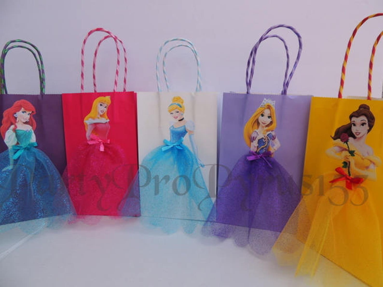 Disney Princess Party Favor Bags for 10 Guests
