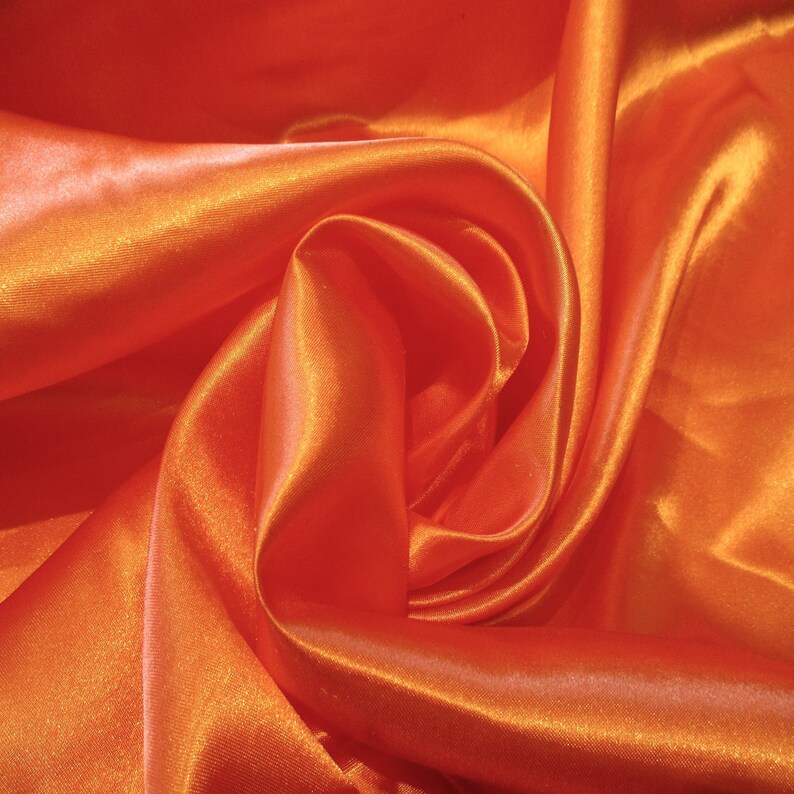Jn00006 Sale Item Orange 6 Charmeuse Satin Soft Smooth Flowing Etsy