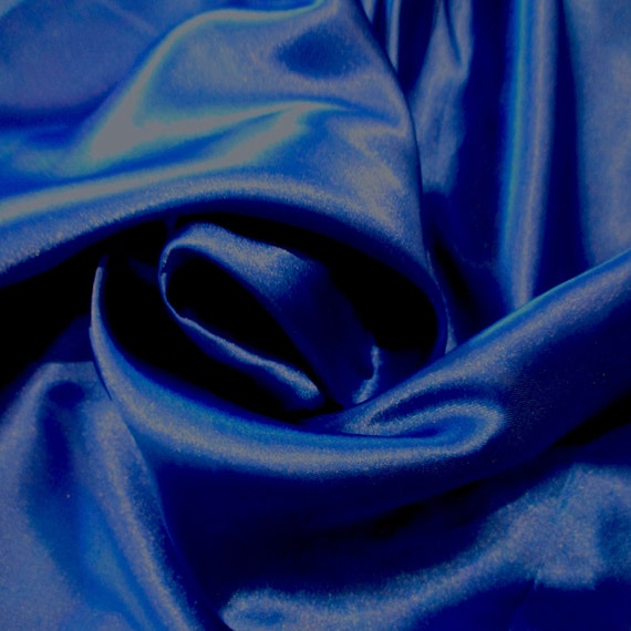 30 Yard Lot Royal Blue Poly Spandex Charmeuse Satin 2-way Stretch Fabric