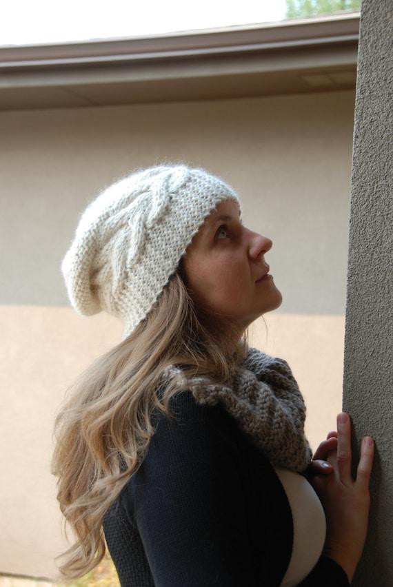 Luxury Baby Alpaca Slouchy Hat Slouch Beanie Women Men Hat  208a7e4fa0df