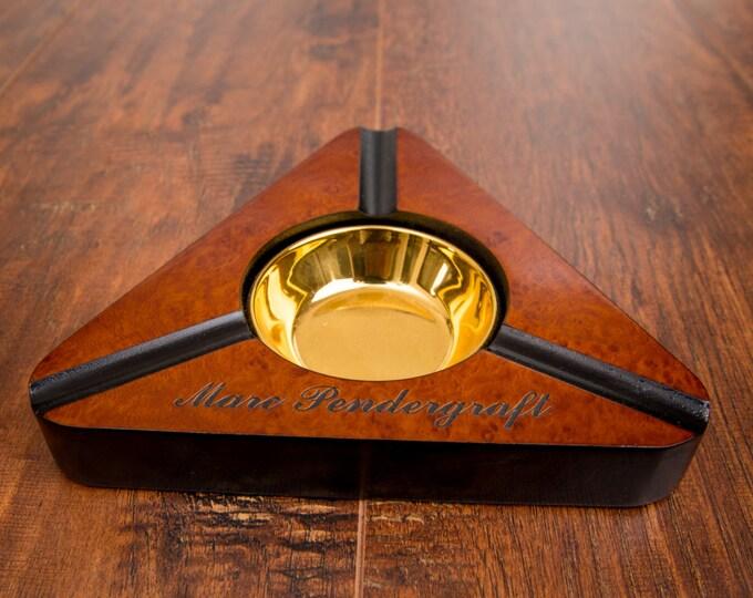 Cigar Ashtray, Personalized Cigar Holder, Smoke Ash Tray, Customize Engraving, Cigars, Cigar Display, Groomsman Gift, Mens Gift