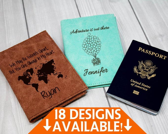 Personalized Passport Cover, Passport Holder, Passport Wallet, Passport Case, Engraved Passport, Leather Passport, Custom Travel Book