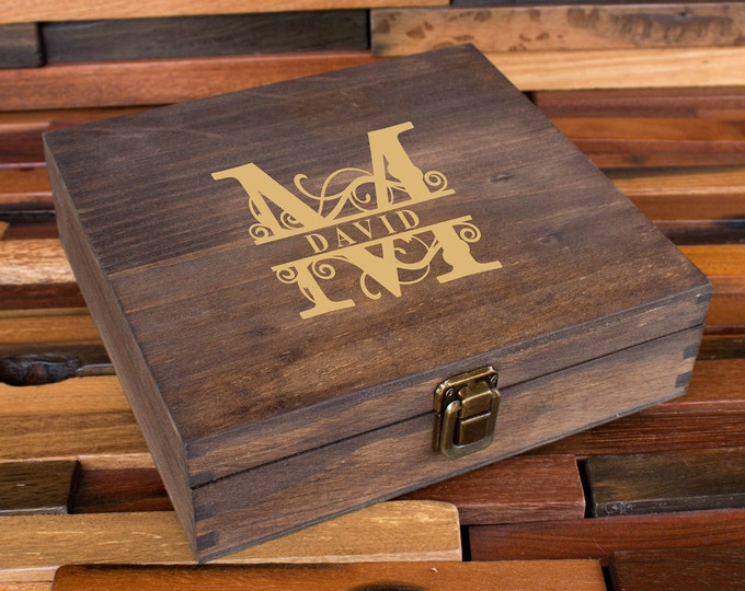 Personalized Cigar Box, Groomsman Gift Box, Gift for Man, Engraved Wood Box, Wedding Bridal Gift, Best Man Gift, Party Gift Box, Men's Box