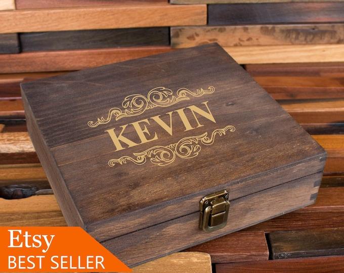Rustic Cigar Box, Groomsmen Cigar Box, Best Man Gift, Wooden Cigar Box, Wood Gift Box, Groomsman Gift Box, Vintage Box, Wedding Party Box