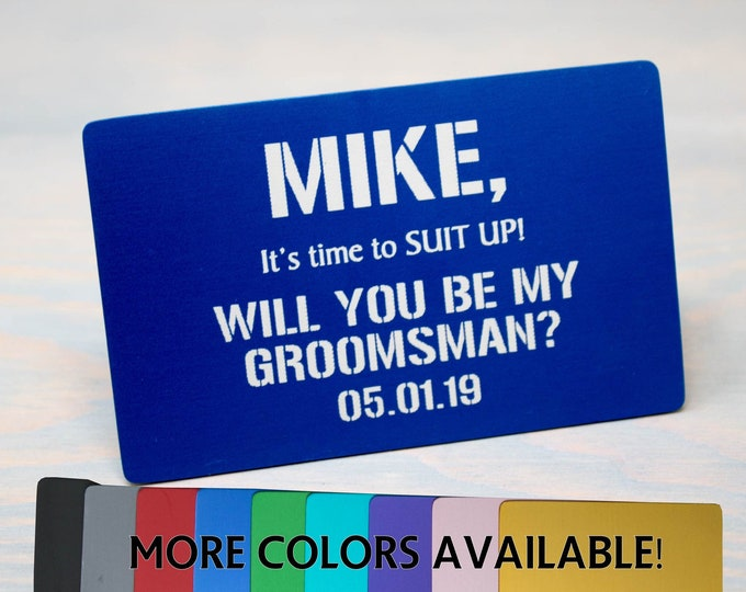 Groomsman Proposal Card, Best Man Proposal, Will you be my Groomsman? Gift Ideas, Keepsake Card, Memory Card, Groomsmen Proposal
