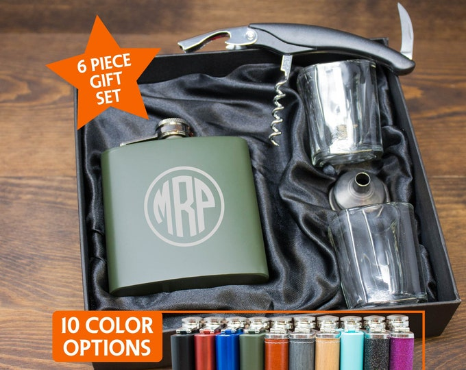 Personalized Flask Set