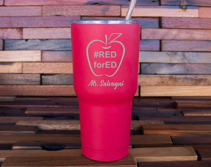 Red for Ed Tumbler, Support REDforED, #REDforEd, Wear Red for Ed Teachers, Fund Schools, Arizona, Colorado, Support Red for Ed Shirt TShirt
