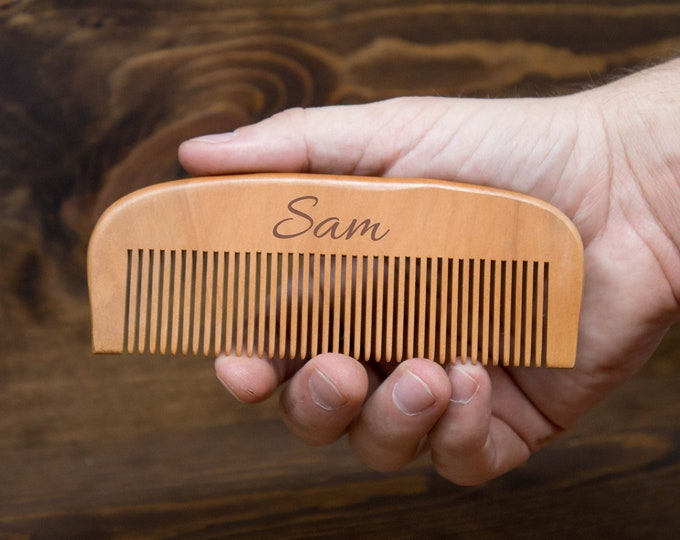 Wood Comb, Wooden Comb, Engraved Comb, Personalized Comb, Bridal Wedding Gift, Bridesmaid Gift, Groomsmen Gift, Custom Comb, Hairbrush Comb