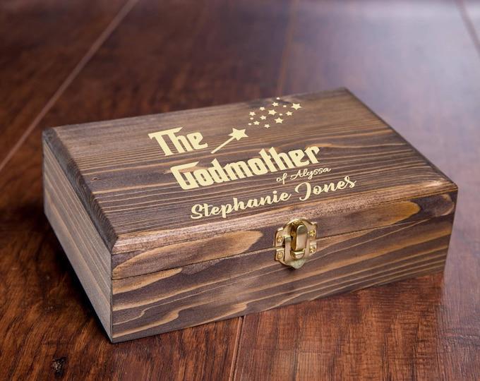 Godmother Gift, Godmother Proposal, The Godmother Box, Godmother Gift Box, Fairy Godmother Wood Box, Godmother Gift Idea