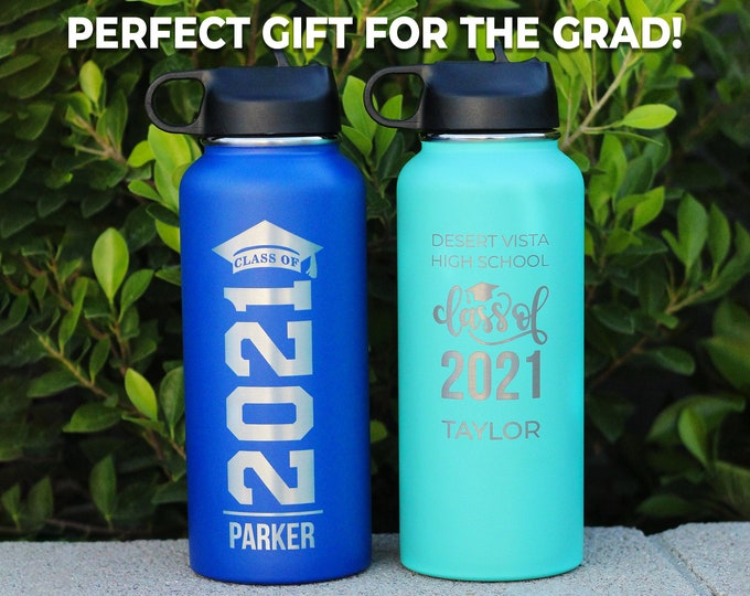 Graduation Class of 2021, Seniors 2021, Graduate Gift, Class of 2021, Graduation Bottle, Personalized Graduation Gift, College Graduation